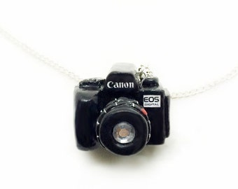 Cannon EOS Camera Charm Necklace