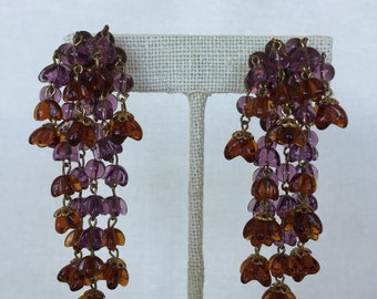 1940's Germany Chandelier Screw back Earrings