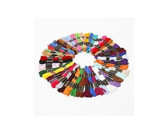 50 Embroidery sewing thread skeins floss - Mixed Colours 100% Cotton [1128]