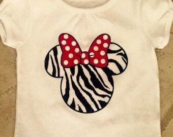 Minnie zebra t-shirt