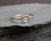 Skinny Knot ring, 14k yellow gold filled, sailor knot, celtic knot, friendship, engagement, made at your size