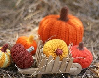 Crochet pumpkin (1 pcs), Autumn Fall Thanksgiving Halloween decoration, Table centerpiece Harvest Rustic Ornament
