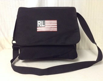 Free Ship Polo Ralph Lauren Messenger Shoulder Bag Black