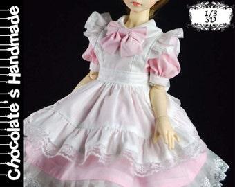 BJD Pattern SD 1/3 Japanese Maid cosplay costume dress set E-Pattern [with English instruction]