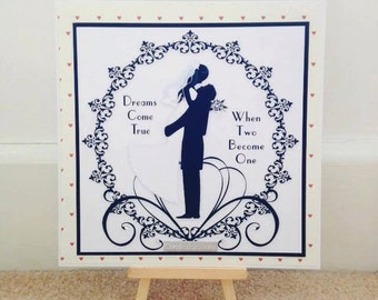 Dreams Come True Wedding Card * Handmade Wedding Card * Love Card * Congratulations Card * Wedding Day * Romantic Card * Personalised Card *