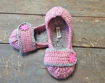 Non-Slip Crochet Slippers