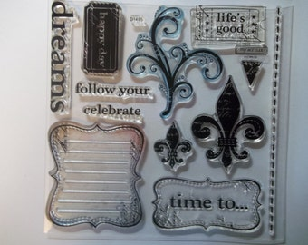 LIFE'S GOOD -- D1495.  A My Acrylix stamp set from Close to My Heart.  Gently used and ready to ship.