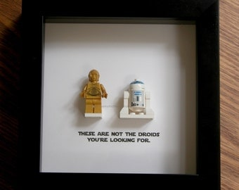 star wars art lego r2d2 and c3po wedding gift wall decor picture frames displays lego art