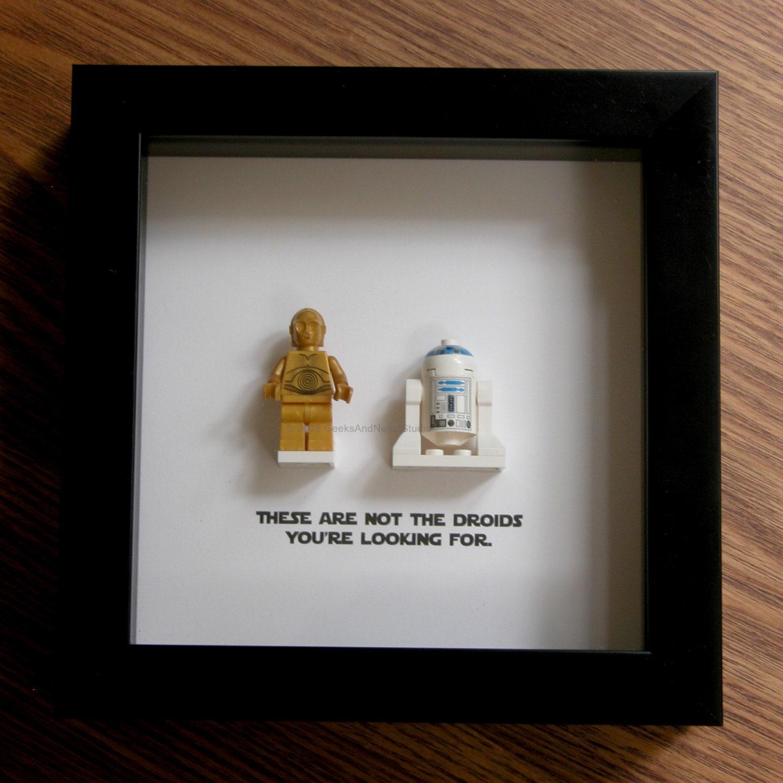 Star Wars Wedding Gifts: Star Wars Art LEGO R2D2 And C3Po Wedding Gift Wall Decor