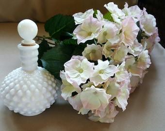 Vintage Milk Glass Hobnail Perfume Decanter