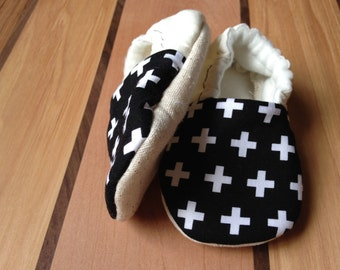 geometric baby clothes, organic baby shoes, Swiss cross baby shoes, Swiss cross, positive, math baby clothes