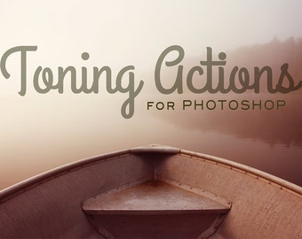 Toning Photoshop Actions - 20 Toning Photoshop Actions - Sale