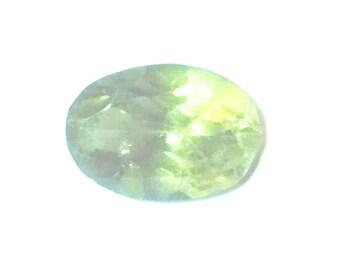 5x7mm, oval, natural peridot stone.