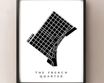 The French Quarter Map - New Orleans Neighborhood Art Print