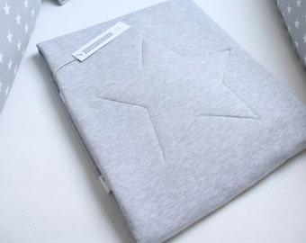 Star Baby Blanket,Bedspread,  Grey Baby Blanket, Baby shower Gift,