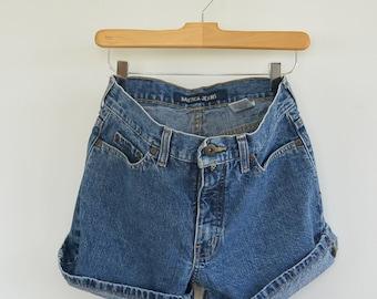 Vintage Nautica Jeans Denim Shorts 90's Women's size 4 Denim Cutoffs Short Jean Shorts