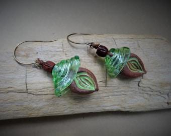 Gaia earrings - Dangle, Artisan, Delicate, Green