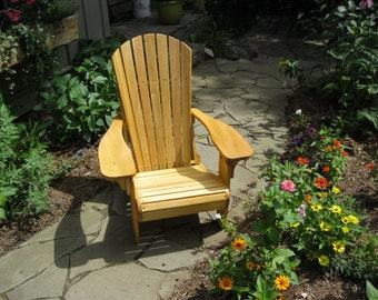 Cypress Wood Adirondack Chair