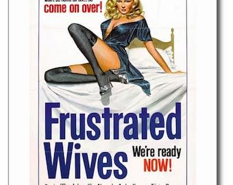 Frustrated Wives Adult Film Vintage REPRO Postcard