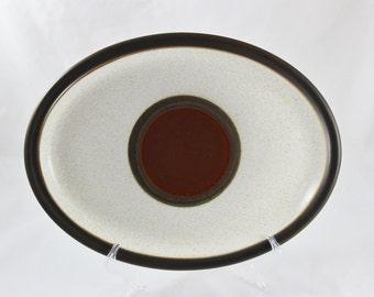 "Denby Potter's Wheel Rust Red 13"" Serving Platter"
