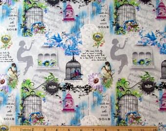 Per Yard, Birds Song Allover Fabric From SPX