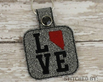 NEVADA LOVE  - In The Hoop - Snap/Rivet Key Fob - DIGITAL Embroidery Design
