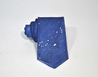 Scorpio Consetllation Hand Painted Silk Tie