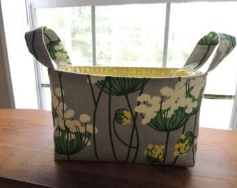 Handmade canvas fabric storage organization basket
