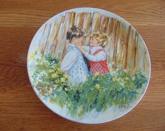 Now marked 20% 0ff.  1981 WEDGEWOOD of Etauria & Balston collector plate.  Be My Friend, 1st issue in MY Memories series