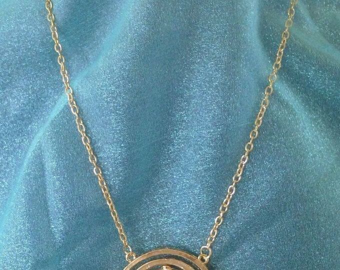 Harry Potter Time Turner pendant Inspired Necklace Goblin Kraft Jewelry Cosplay Steampunk Fantasy Gothic Hermione Granger's Time-Turner