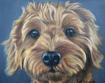 custom dog Painting, pet painting, pet portrait, portrait Commission, Dog painting from a photo, goldendoodle, personalized pet art, 8x10""
