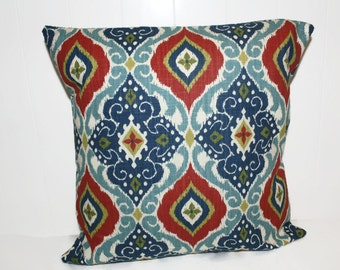 Decorative 16X16 Richloom Jabari Multi Medallion Fabric Throw Pillow Cover