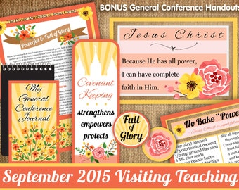 September 2015 LDS Visiting Teaching Message and Handouts, INSTANT DOWNLOAD, Jesus Christ, Powerful and Full of Glory