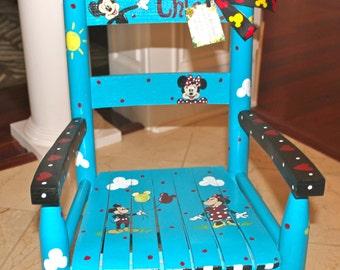 Custom Hand Painted Child's Rocking Chair