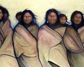 The FOUR BEAUTIES - native american women with babies