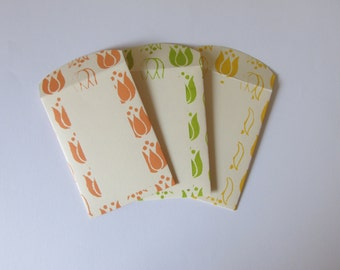 Handmade Screen Printed Seed Envelopes - Pack of 3