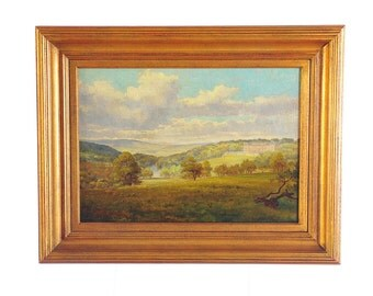 "Cliveden House ""19th c. English Landscape""  oil Painting by Alfred Elsworth"