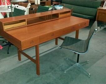 "PETER LOVIG NIELSEN ""Flip-Top Desk"" / Partner Desk, Peter Lovig Nielsen Vintage Mid Century Modern Danish Modern Scandinavian Modern"