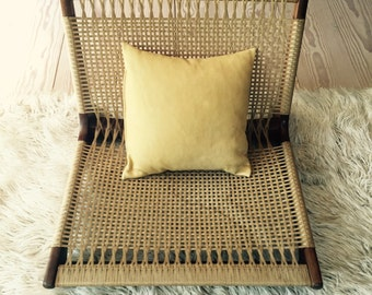 Leather Pillow, Tan Camel Soft Leather, Insert
