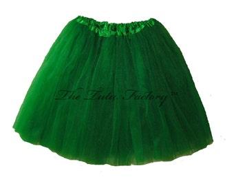 KELLY GREEN Tutu . Girls to Adult Plus Size Tutu . Adult Tutu . Ballet Tutu . Dance Skirt . LONG Length 16in