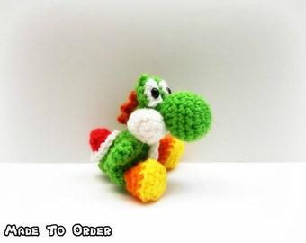 Crochet mini Yoshi from Nintendo (Inspired)