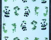 Cute panda bear nail decals/ Animal nail decals/ Nail stickers/ Nail art/ Nail decorations/ Manicure supplies/ art.ble214
