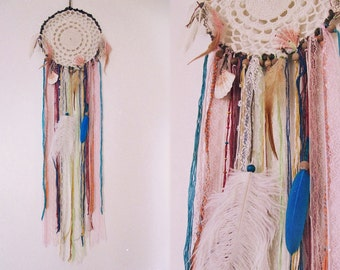 Gypsy Dreamcatcher - Wall Hanging Boho Dream Catcher - Bohemian Bedroom Decor - Gypsy Decor - Made To Order