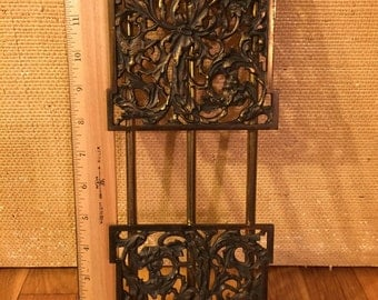 Art Nouveau Style Forest Scene Book Rack with Woodland Creatures and a Nymph