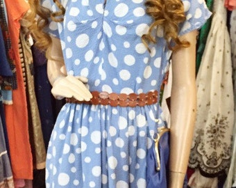 Cute original 1940's polka dot dress