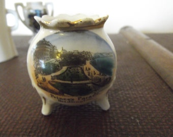 antique china pot, view of Bridlington