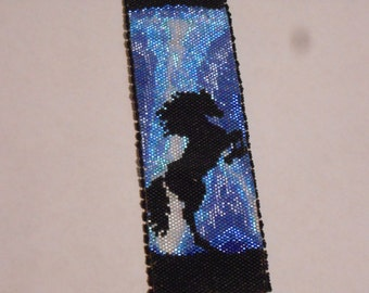 Instant Download Beading Pattern Peyote Stitch Bracelet Thunder Horse Seed Bead Cuff