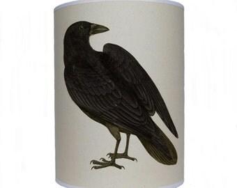 Black bird shade/ lamp shade/ ceiling shade/ drum lampshade/ lighting