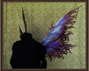 Adult Fairy Wings**Iridescent Purple/Wine/Gold**FREE SHIPPING**Costume/Masquerade/Cosplay/Weddings/Renn Faires/Photo shoots