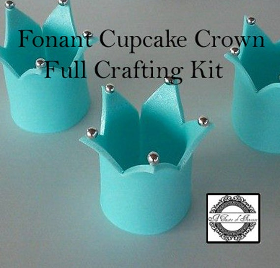 Cake Decorating Crown Cutter : Items similar to Fondant Cupcake Crown Kit With Tutorial ...